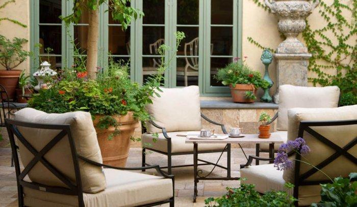 Lovely French Style Garden Design A Parisian Courtyard Founterior