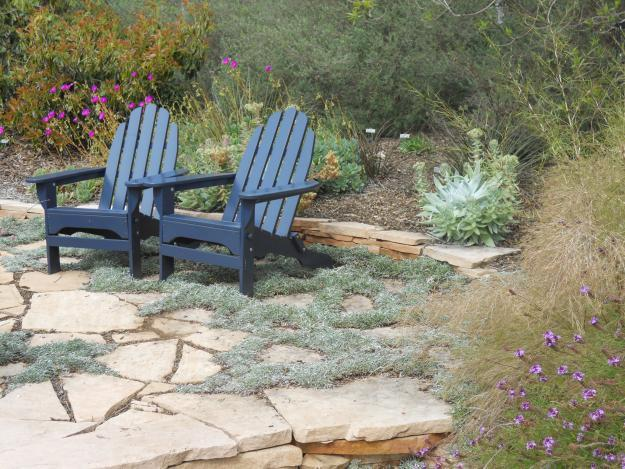 Garden blue adirondack chairs - 9 Garden Design Ideas, Tips and Examples for 2013