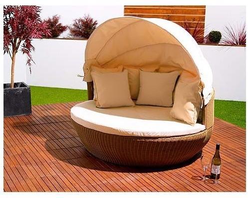 Garden Rattan Love Sofa Natural - Contemporary Garden Furniture and Decoration Ideas