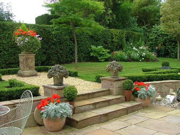 Stone stairs and gravel path - Contemporary Garden Design Ideas for Summer 2013