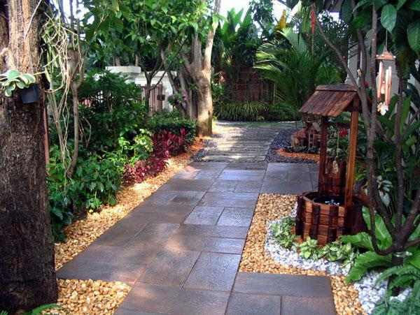 Huge tiles used for pathway - Contemporary Garden Design Ideas for Summer 2013