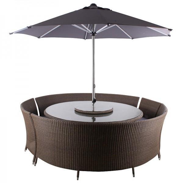 Leisuregrow Torino Curved Bench Furniture Set - Contemporary Garden Furniture and Decoration Ideas