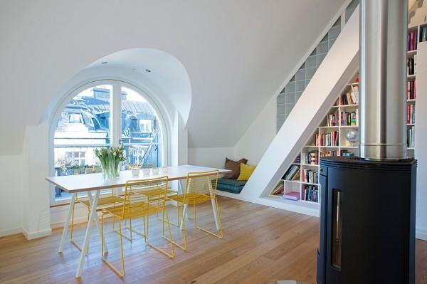 Loft Interior Design Solutions in white color