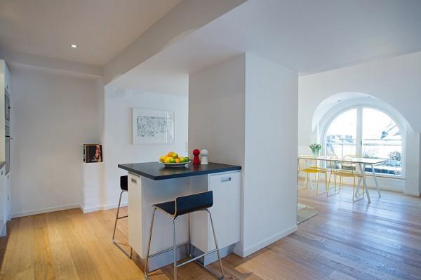 Contemporary black and white kitchen design - Loft Interior Design Solutions