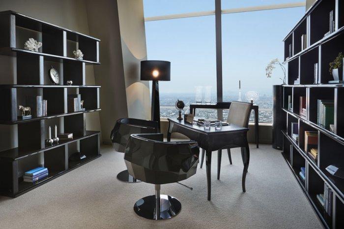 FENDI furniture in Luxury Los Angeles Penthouse in Ritz-Carlton Residences