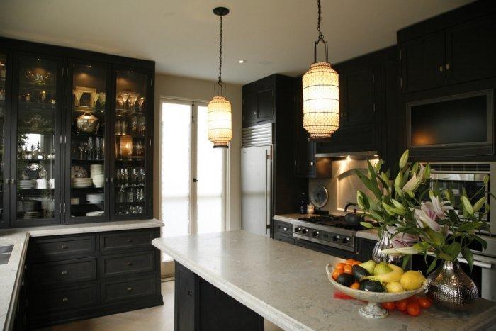 Luxury kitchen in black color in Ashbury Heights, San Francisco