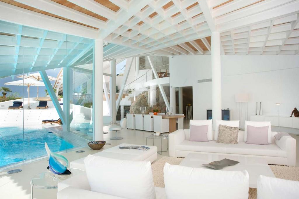 Luxury living room design - Spanish Mediterranean Villa in Mallorca