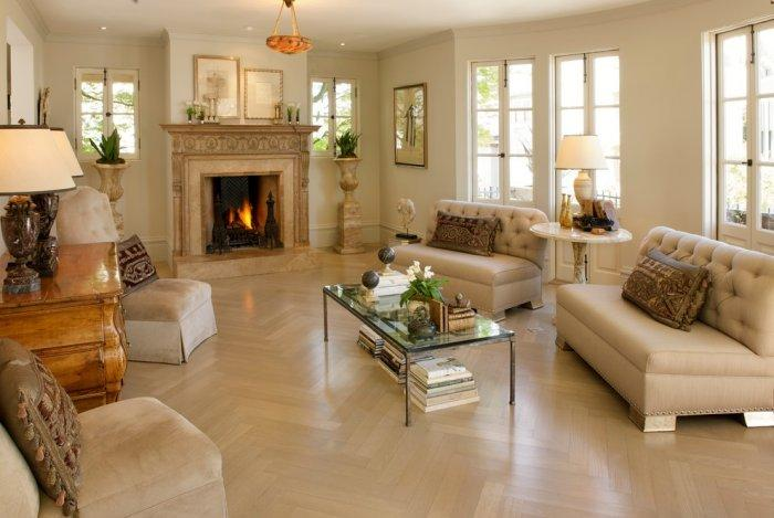 Luxury living room interior design in white in Ashbury Heights, San Francisco