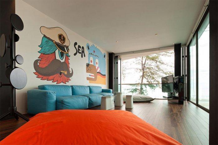 Marine wall decoration ideas - Minimalist House Design in Thailand