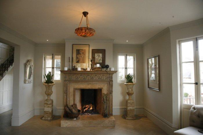 Massive classical 19th century fireplace in Ashbury Heights, San Francisco
