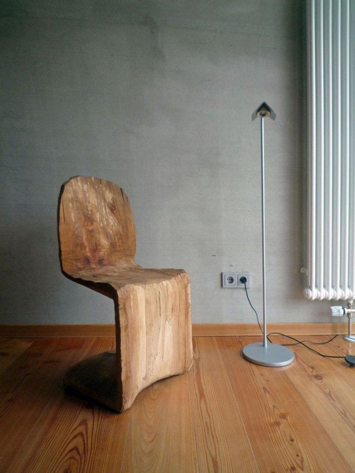 Panton Chair by Matthias Brandmaier – the amazing wooden work.