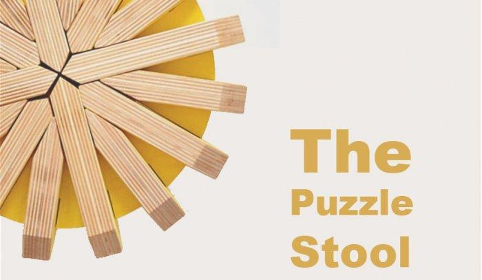 Creative Modular Stool Design - The Puzzle Stool