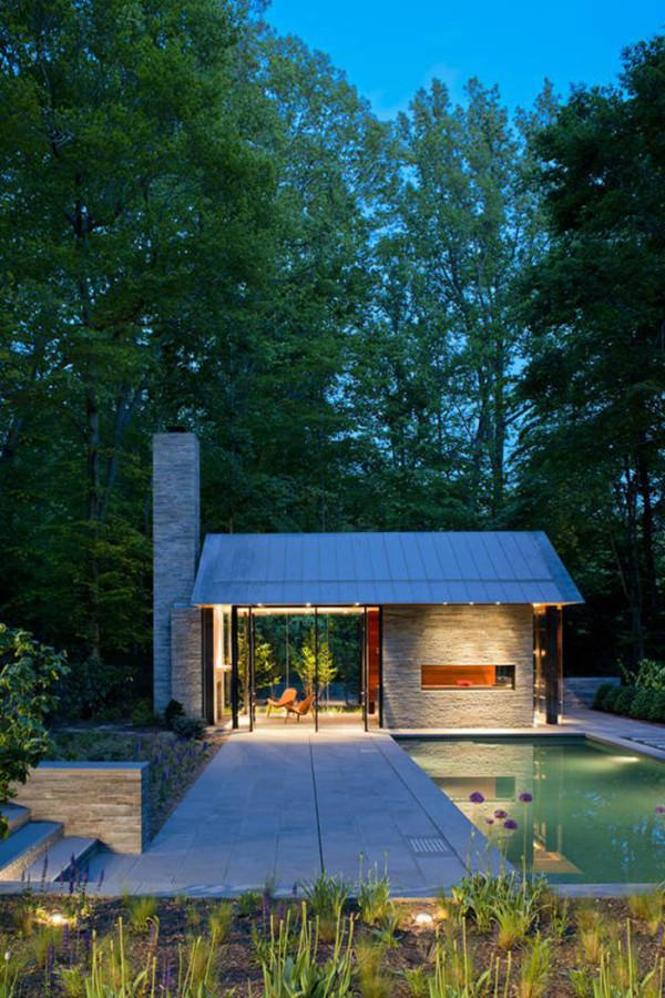 12 Outdoor Pivot Doors Leading to Patios - Ideas and Examples