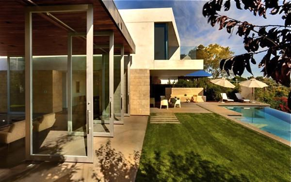 Pivot door designed by Ehrlich Architects- 12 Leading to outdoor Patios Ideas and Examples