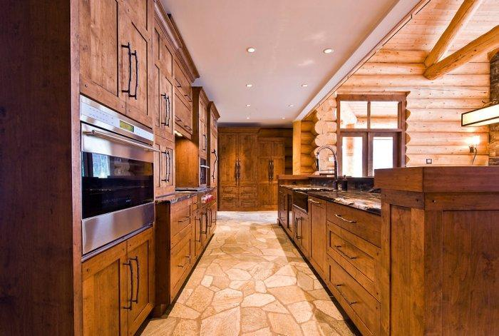Rustic kitchen interior design - Eclectic Luxury Weekend Getaway nested in the Canada