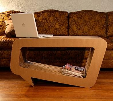Small Wooden Coffee Table by Leo Kempf