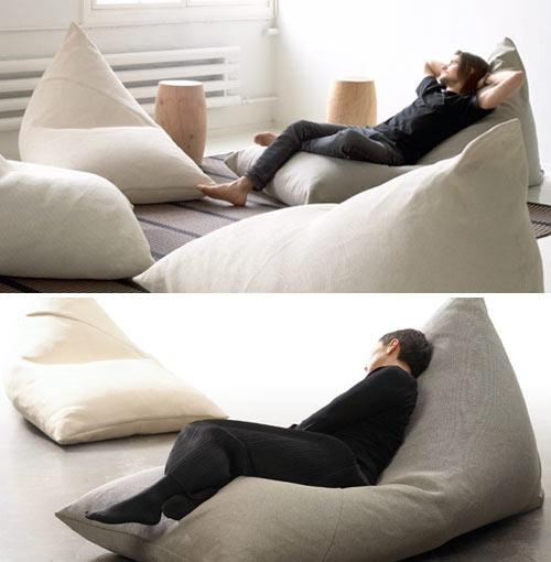 Soft and comfortable beanbag, perfect for relaxation - Exciting and Creative Sitting Furniture Design Examples
