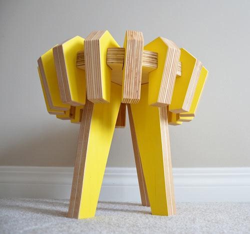 Modular Stool Design - The Puzzle Stool