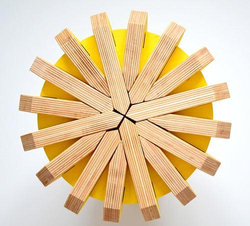 Unique stool design - The Puzzle Stool