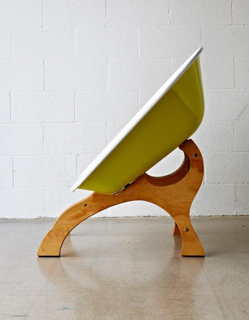 Wash-tub chair design by Karl Sanford