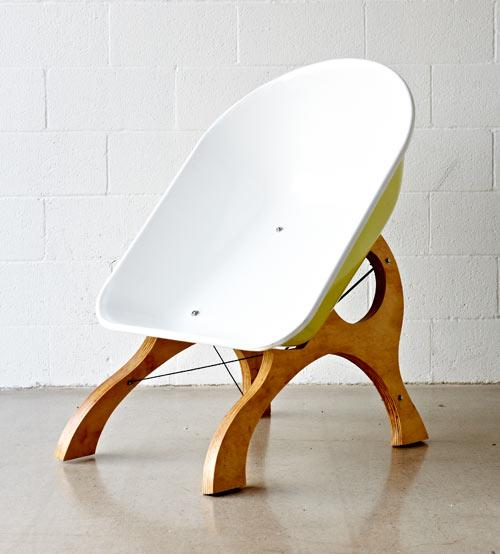 The Amazing and creative design of the Wheelbarrow Chair by Karl Sanford
