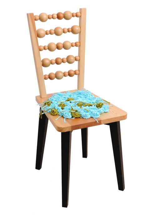 Wooden chair with massaging back - Cvetnoetno Furniture Collection