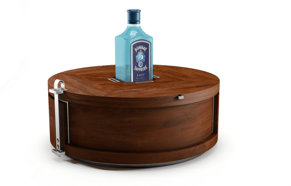 Wooden cocktail table- The Bombay Sapphire Gin Wheel