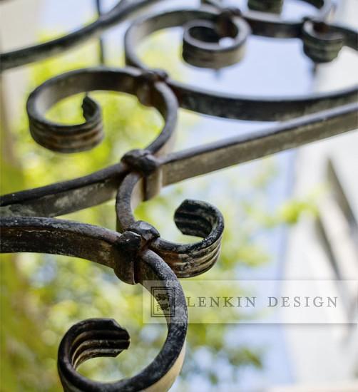 Wrought iron garden door - Lovely French Style Garden Design - A Parisian Courtyard