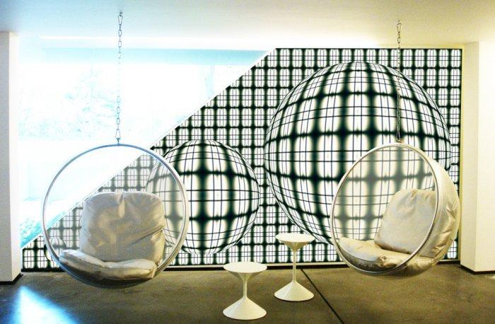 """Bubble Chair by Eero Aarnio - Concept of Earth Living in """"Oblivion"""""""