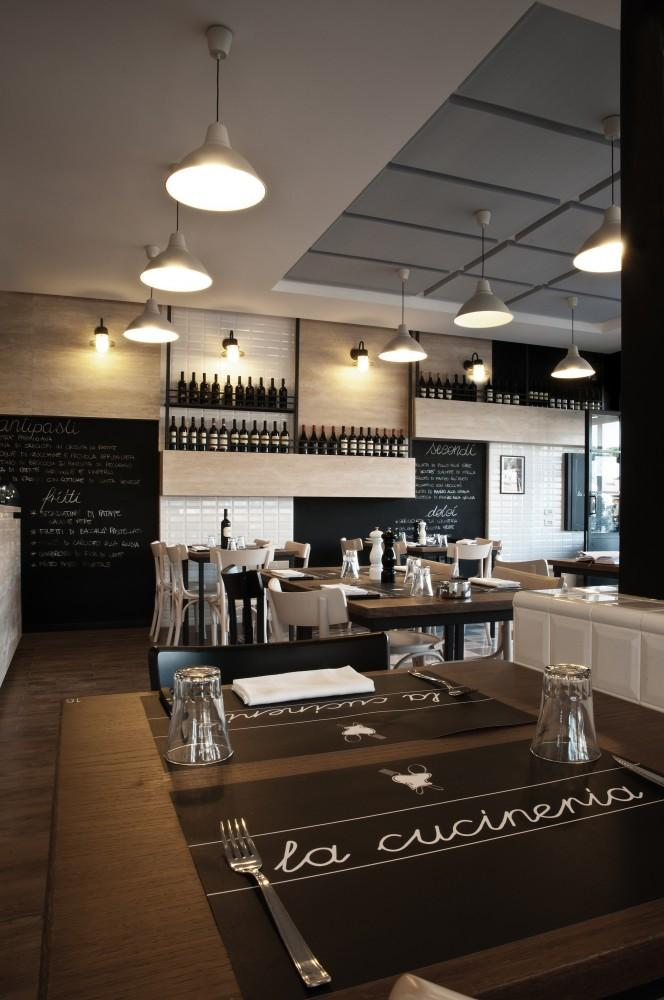Contemporary Roman restaurant interior design - La Cucineria
