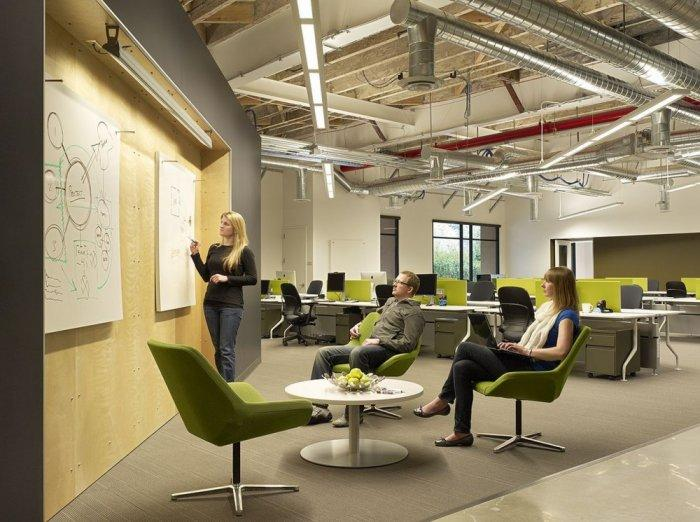 Creative area with white boards - Skype HQ's Modern Office in California - by Design Blitz