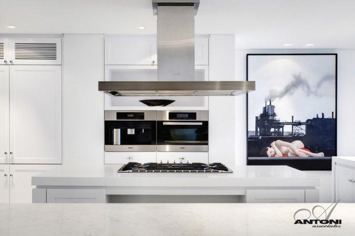 Cutting edge minimalist white kitchen design - Impressive Minimalist Beachfront Apartment by ANTONI ASSOCIATES