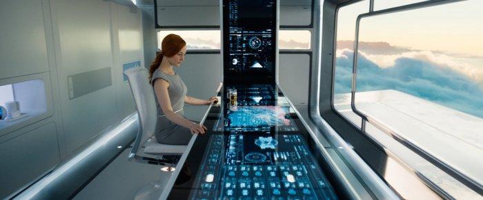 """Futuristic control desk - Concept of Earth Living in """"Oblivion"""""""