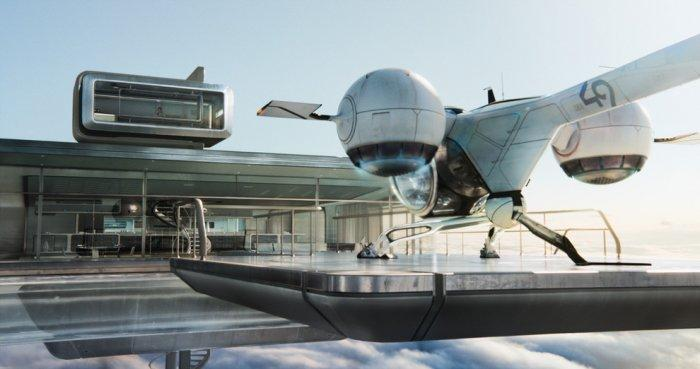 """Futuristic home in the clouds - Concept of Earth Living in """"Oblivion"""""""