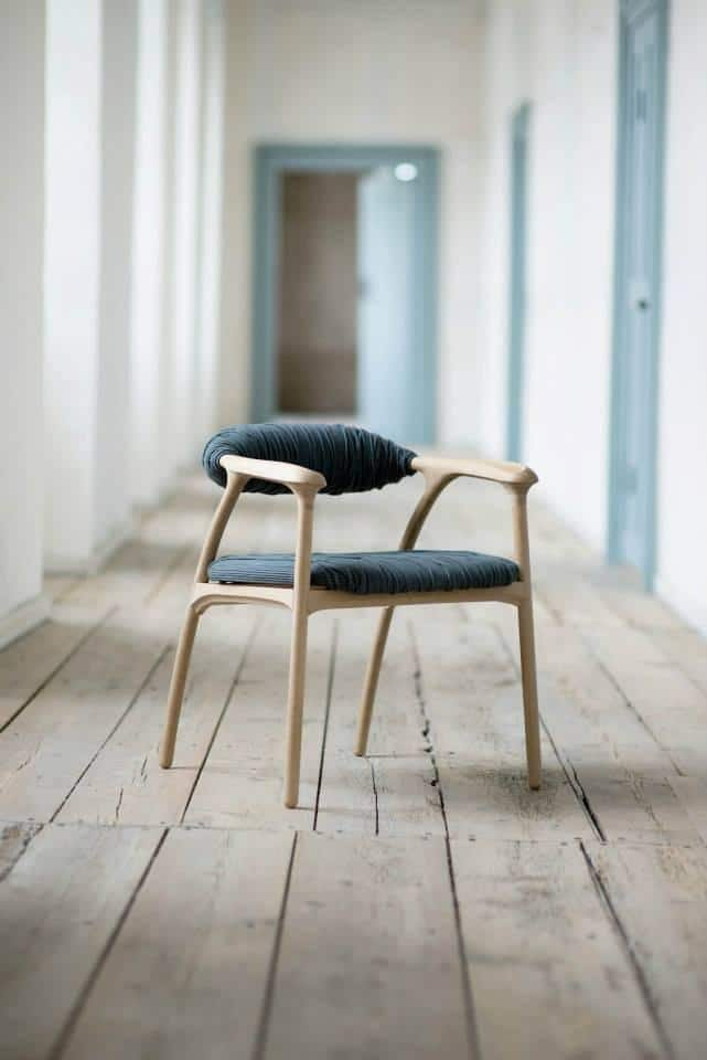Handcrafted oak wood chair by Trine Kjaer Design Studio