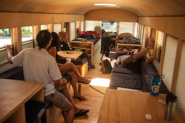 Holiday cabin for six people in a Bus by Hank Butitta