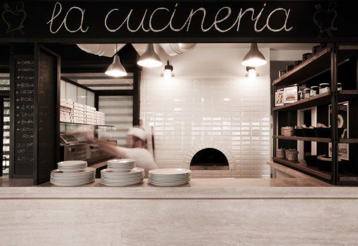 The open kitchen in La Cucineria - a Contemporary Restaurant in Rome
