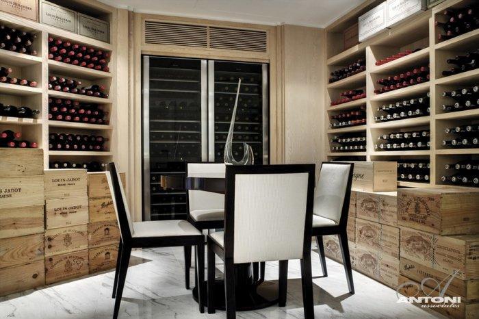 Luxury home wine cellar - Impressive Minimalist Beachfront Apartment by ANTONI ASSOCIATES