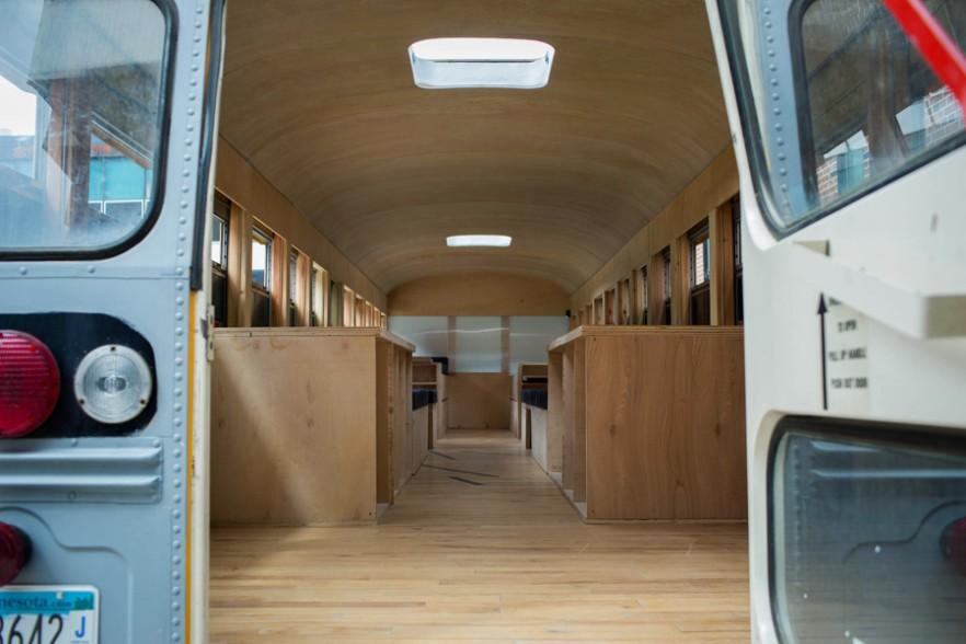 Modern Holiday Mobile Cabin in a Bus by Hank Butitta