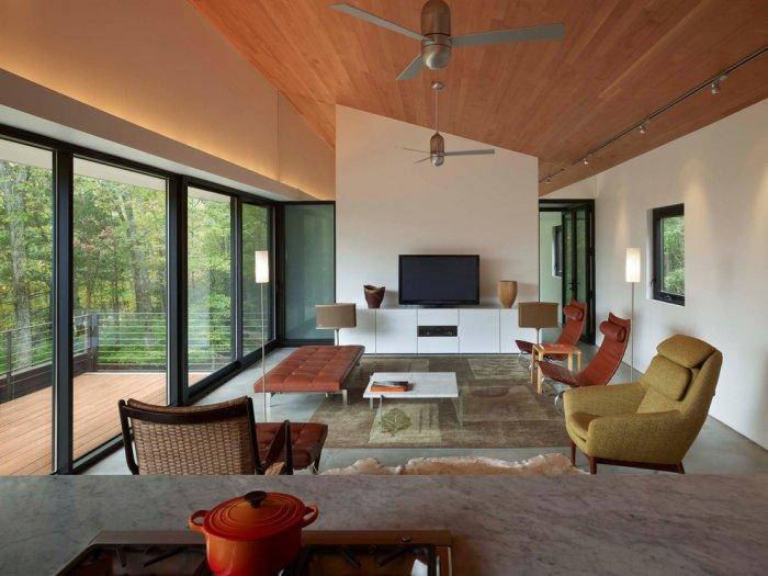Modern living room interior design - Weekend House by Chan-Li Lin