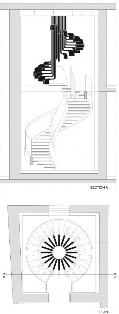 The project plan of the staircase by .PSLA