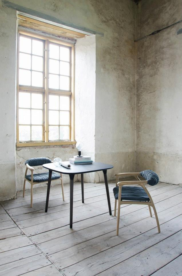 Rustic chair placed at a small table - by Trine Kjaer Design Studio