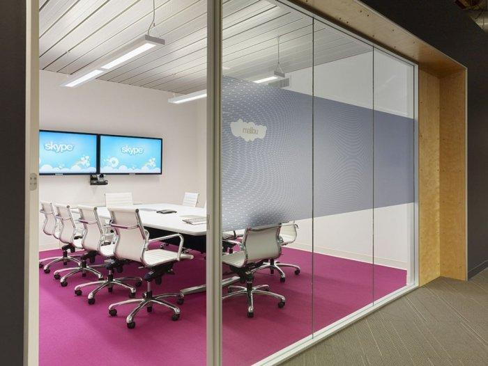 Small conference office room - Skype HQ's Modern Office in California - by Design Blitz