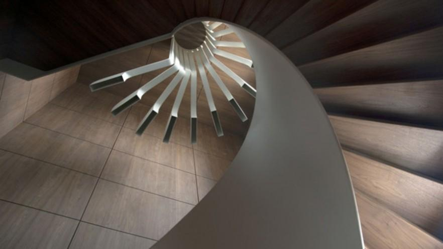 Stylish Spiral Residence Staircase by .PSLA
