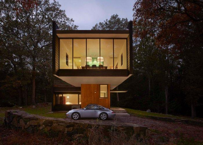 The parking lot at the Weekend House by Chan-Li Lin