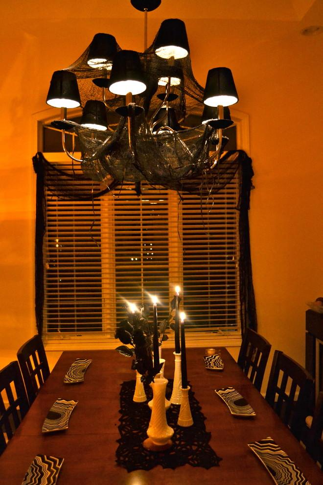 Halloween dinner table with black netting and black candles - 36 Ideas for Your Home