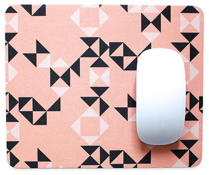 Peach and Black Geometric Mouse Pad - 20 Lovely Low-Cost Home Decor Accessories