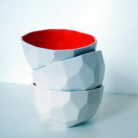 Red Modern Design Polygon Bowl - 20 Lovely Low-Cost Home Decor Accessories