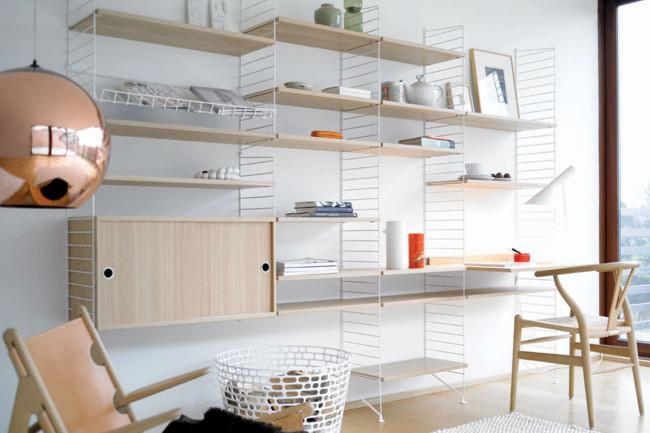 'String' modular shelving system by Great Dane - Decorative Ideas for Small Apartments