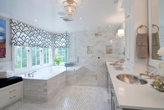 Bathroom floor patterns in white - Exclusive Bathroom Decorating Ideas using Tiles
